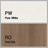 RO Red Oak / PW Pure White