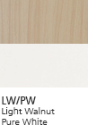 LW/PW Light Walnut Pure White